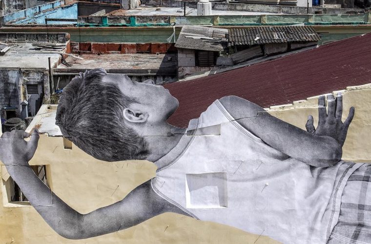 JR's new work at the Havana Biennale in Cuba
