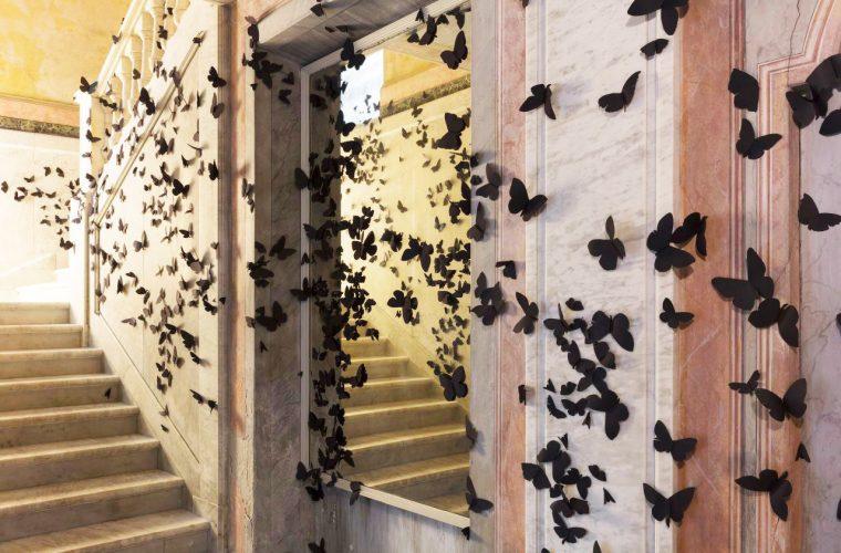 Carlos Amorales' butterflies invade Fondazione Pini