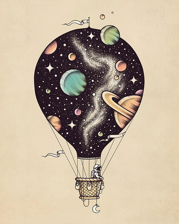 Nello spazio insieme a Buko, illustrazioni galattiche | Collater.al 15