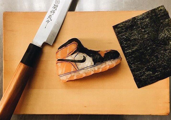 Quando la moda incontra il cibo, The Onigiri Art trasforma le sneakers in sushi