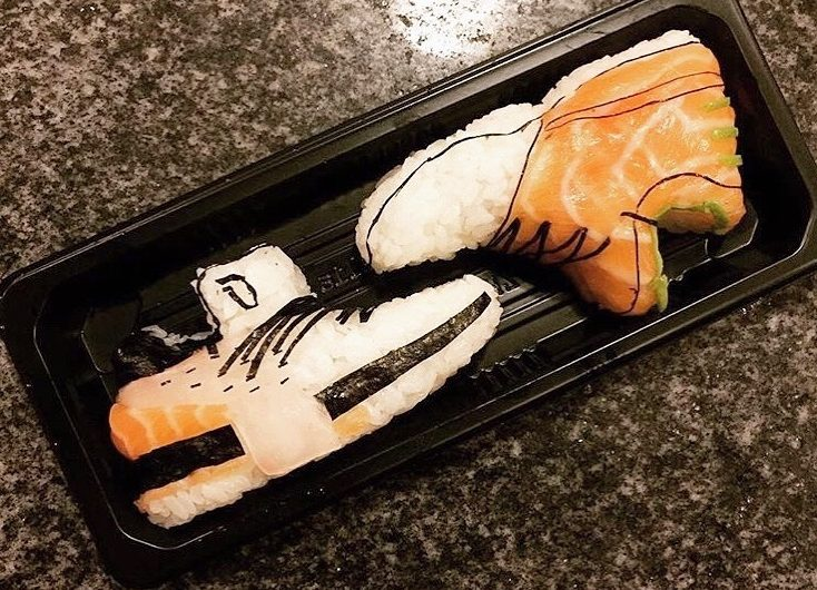 When fashion meets food, The Onigiri Art transforms sneakers into sushi