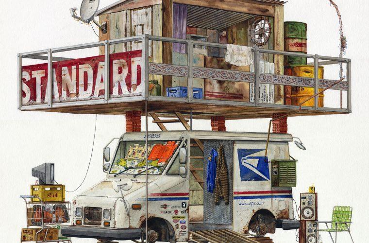 Alvaro Naddeo: acquerelli di un mondo distopico
