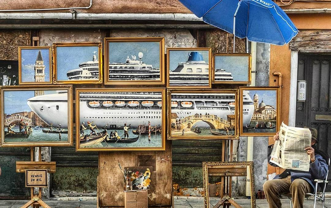 Banksy infiltrates Venice Biennale 2019 with his new work Venice in Oil