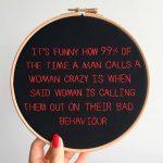 Behind the artwork – I ricami femministi dell artista Sophie King | Collater.al 8