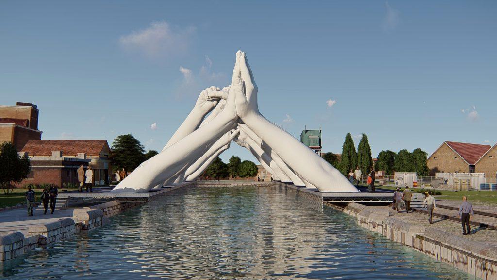 Building Bridges, Lorenzo Quinn per la Biennale di Venezia | Collater.al