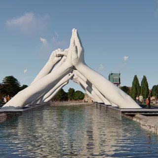 Building Bridges, Lorenzo Quinn per la Biennale di Venezia | Collater.al 5