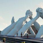 Building Bridges, Lorenzo Quinn per la Biennale di Venezia | Collater.al 4