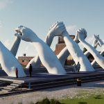 Building Bridges, Lorenzo Quinn per la Biennale di Venezia | Collater.al. 1