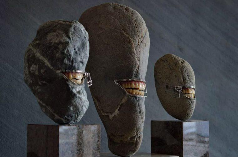 Hirotoshi Ito transforms simple stones into surreal sculptures