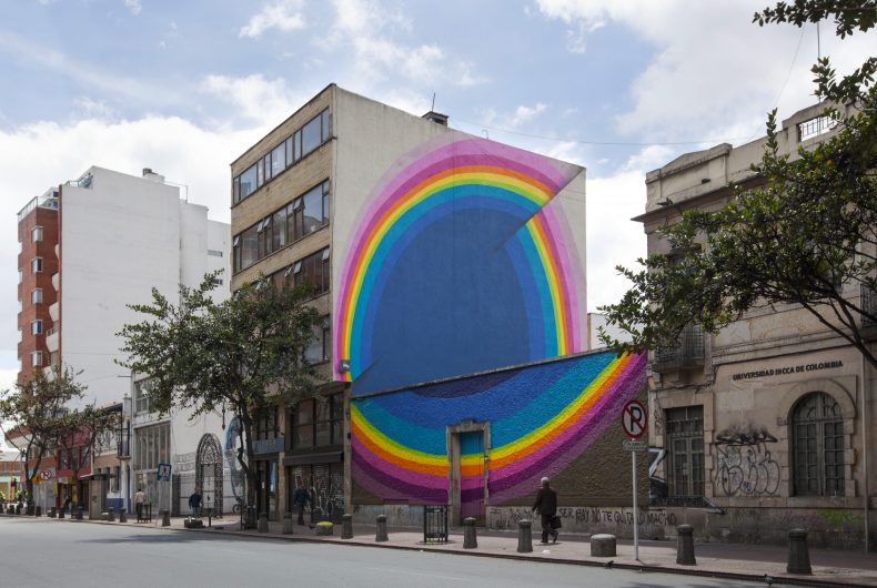 Jan Kaláb's hypnotic and colourful murals