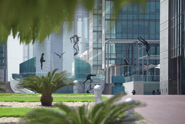 Sculptures by Jerzy Kedziora aka Jotka defy gravity