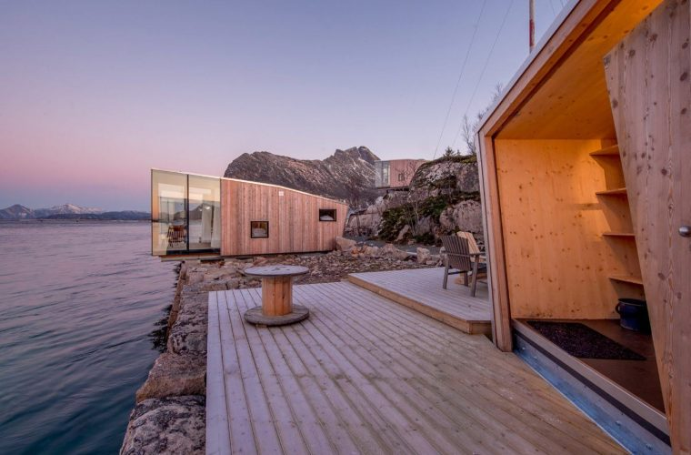 Manshausen Sea Cabin, a resort between the sea and the Northern Lights