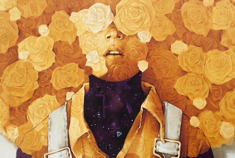 Soleil, the new mural by INTI for Peinture Fraiche Festival