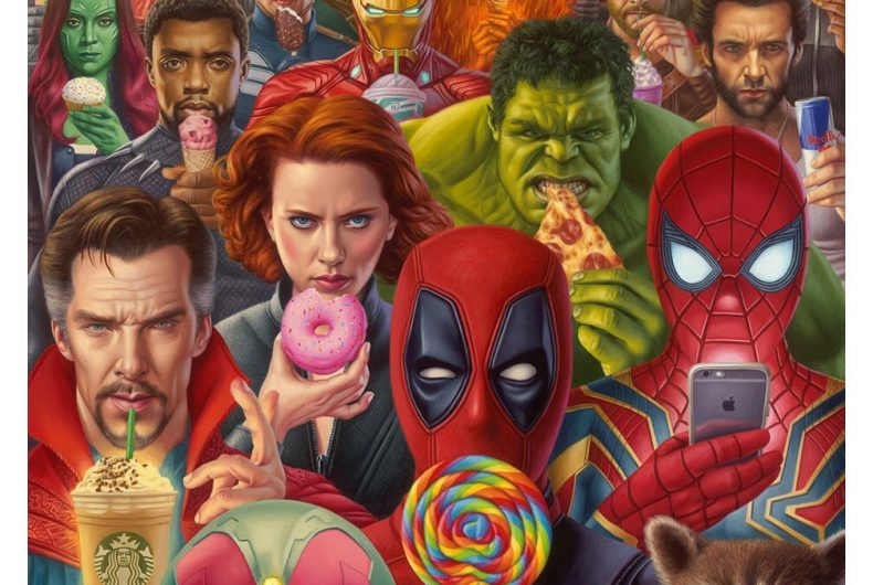 New surreal and pop paintings by Alex Gross