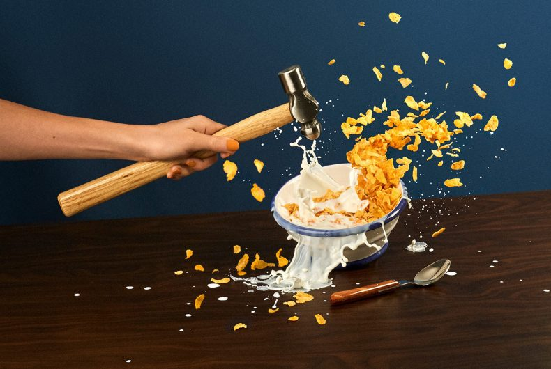In Break/Fast, Tessa Dóniga plays with words and images
