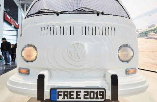 The Volkswagen Camper completely built with LEGO