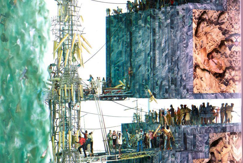 L'arte di Dustin Yellin, a metà tra scultura e collage