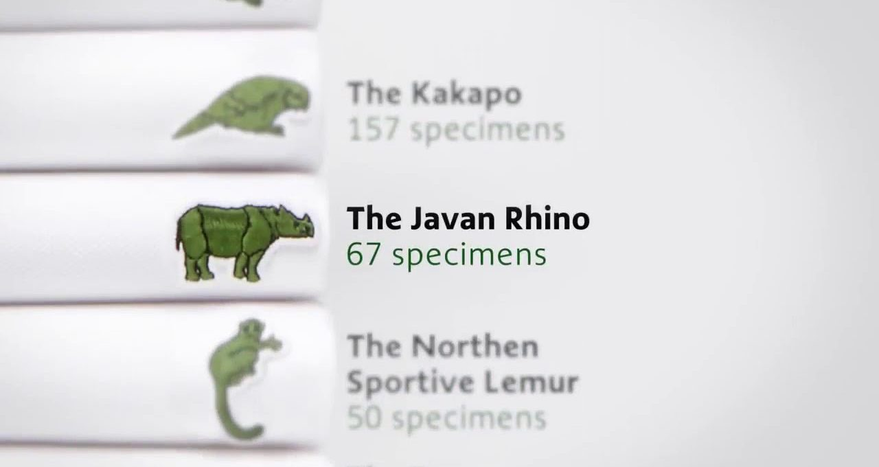 """Threatened species replace the Crocodile in Lacoste's """"Save Our Species"""" collection"""