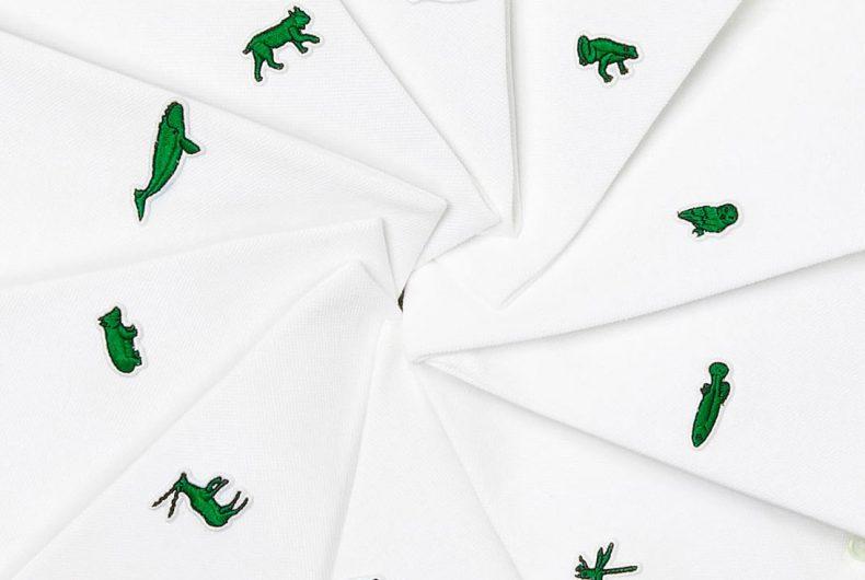 """Le specie a rischio sostituiscono il Coccodrillo nella collezione """"Save Our Species"""" di Lacoste"""