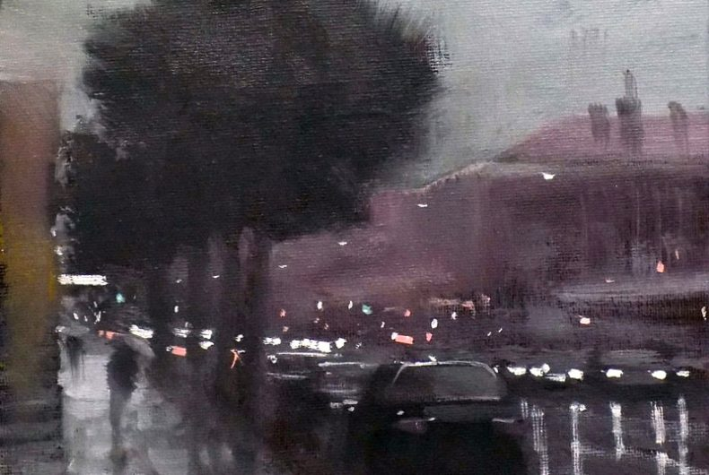 Mike Barr turns the city in an impressionist painting