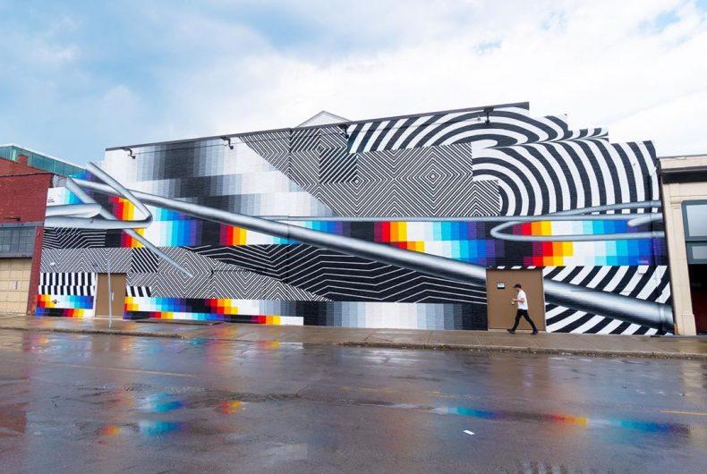 Optichromie, l'ultima e monumentale opera di Felipe Pantone