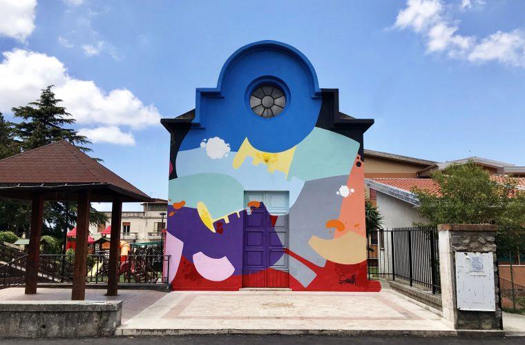 5 Torri di Pace, il murale di Massimo Sirelli a Cinquefrondi