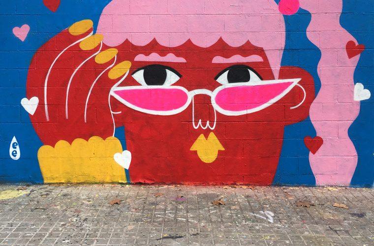 I gioiosi murales di Emily Eldridge scacciano la noia