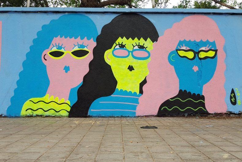 Emily Eldridge's cheerful murals chase away boredom