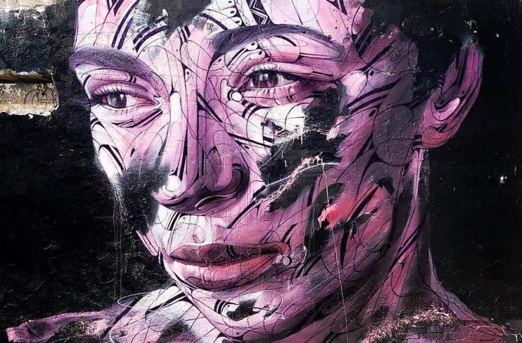 I ritratti astratti nella street art di Hopare