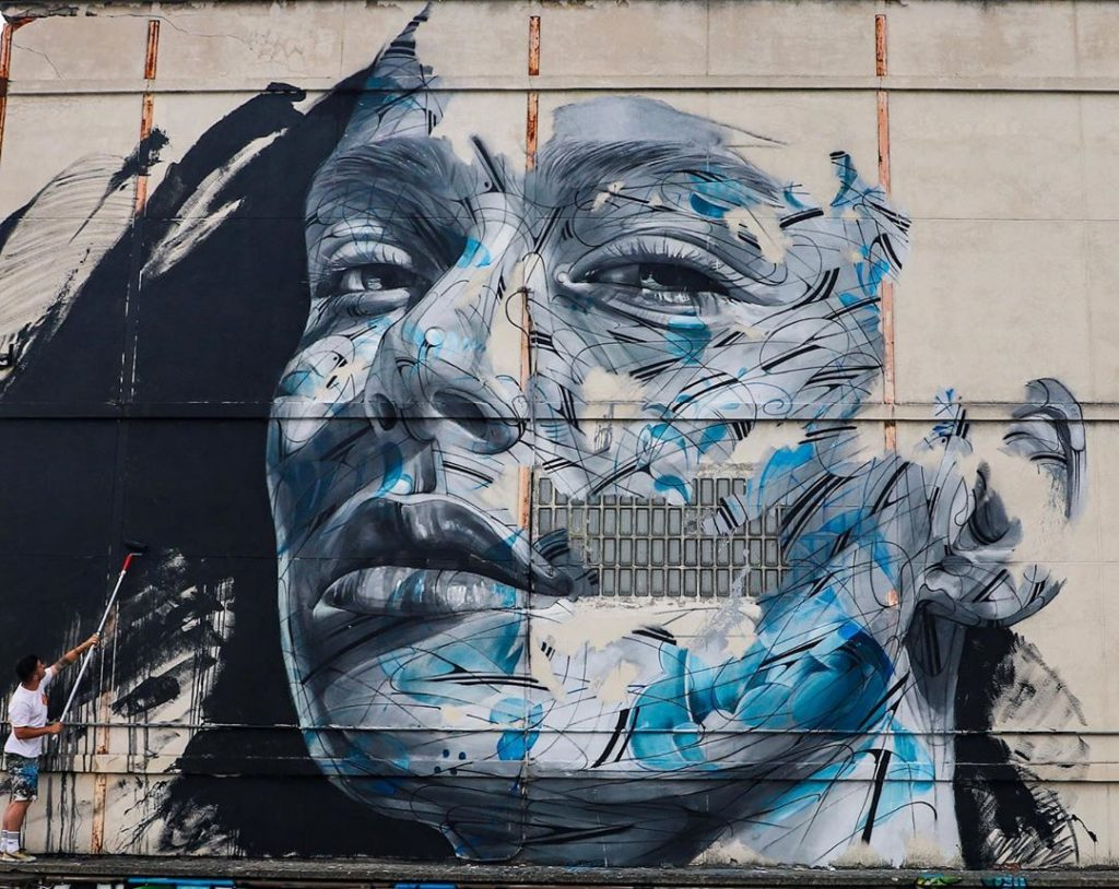 I ritratti astratti nella street art di Hopare | Collater.al