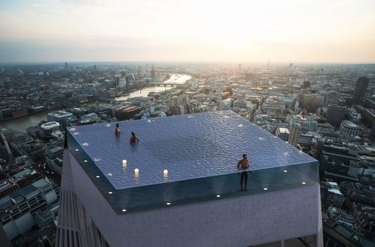 Infinity London, la prima piscina al mondo con una vista a 360°