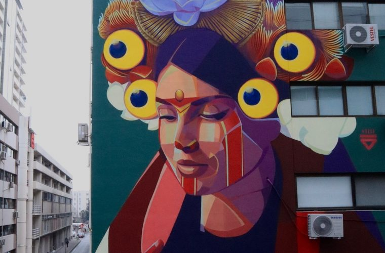 Legends and folklore merge in Gleo street art