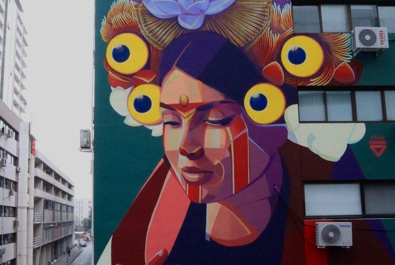 Legends and folklore merge in Gleo street art