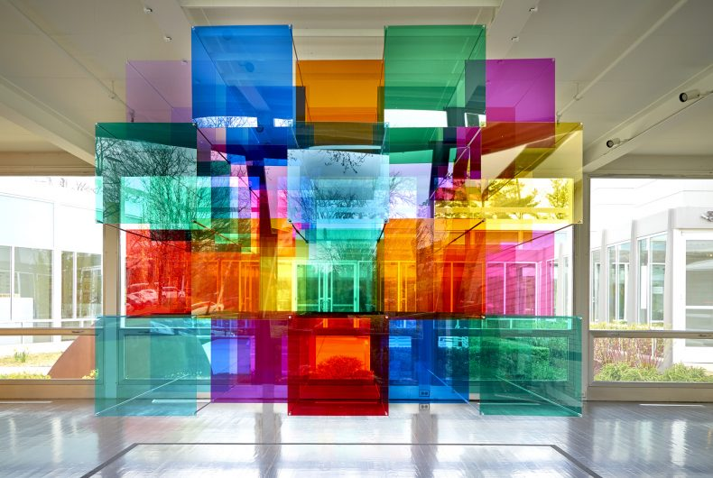 Parallel Perspectives, the kaleidoscopic installation by Luftwerk
