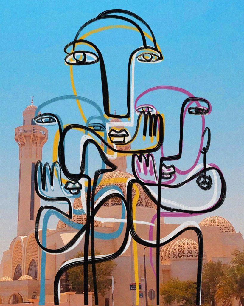 Zaid Zawaidah trasforma le influencers in quadri di Picasso | Collater.al