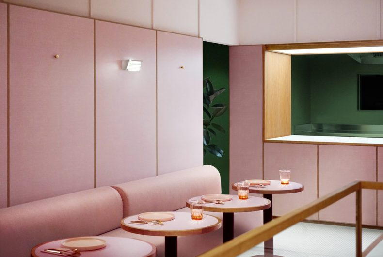 Humble Pizza, the all-pink place in central London