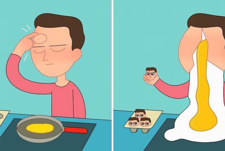 Irony and black humor in Ji's illustrations