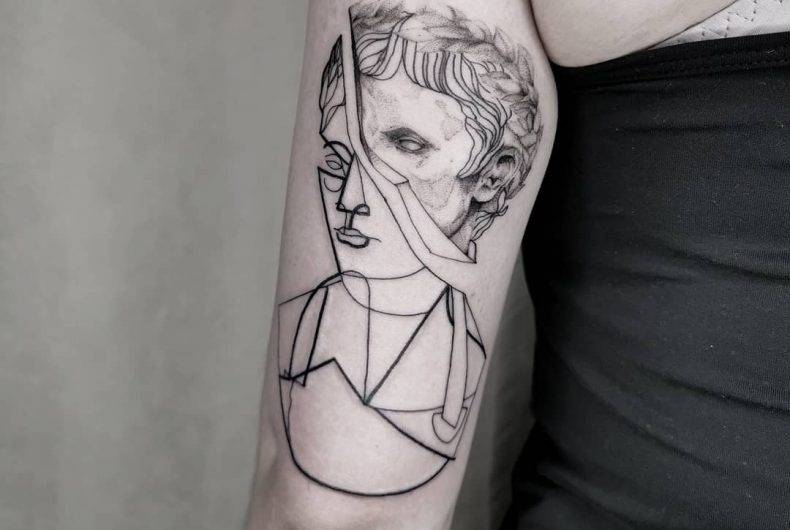 Nicolas Gumo's tattoos blend all possible styles