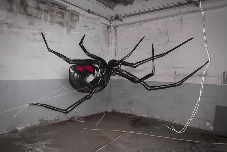 The murals of Odeith seem to come out of the walls