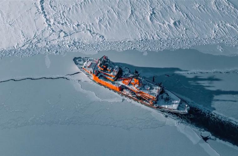 The Icebreaker. Un viaggio aereo tra i ghiacci del Mare del Nord