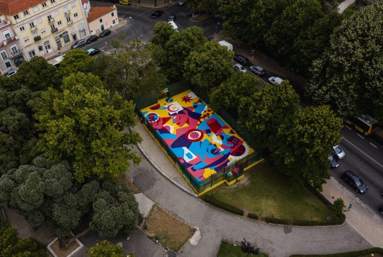 Balance, AkaCorleone trasforma un campo da basket in un'opera d'arte