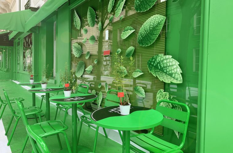 Dare.Win ha colorato di verde un'intera strada di Parigi