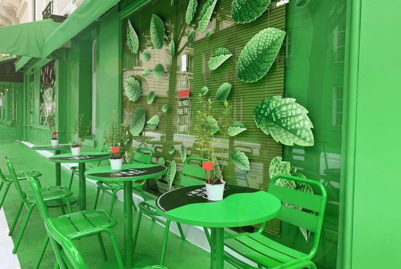 Dare.Win ha colorato di verde un'intera strada di Parigi