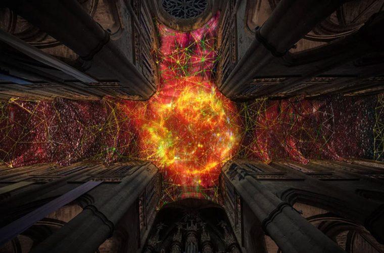 Digital Supernova 2019, Miguel Chevalier's installation combines science and art