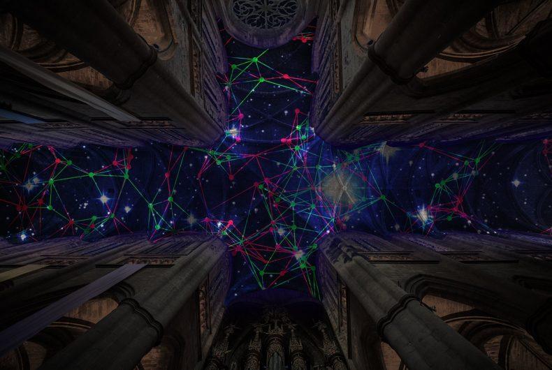 Digital Supernova 2019, l'installazione di Miguel Chevalier unisce scienza e arte