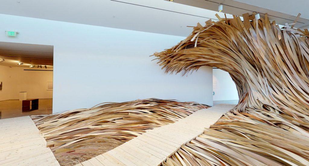 Hubris Atë Nemesis the wave of wood on display at CMCA | Collater.al