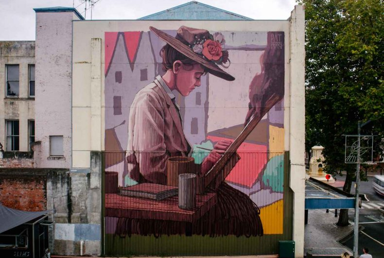 Characters in Pat Perry's amazing street art
