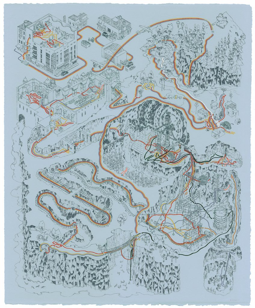 Indiana Jones and the Temple of Doom e il tempio maledetto Cinemaps Andrew DeGraff | Collater.al