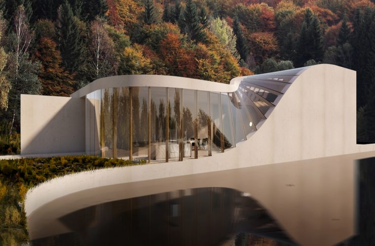 La Lake House dello Studio WAFAI, ispirata al paesaggio che la circonda