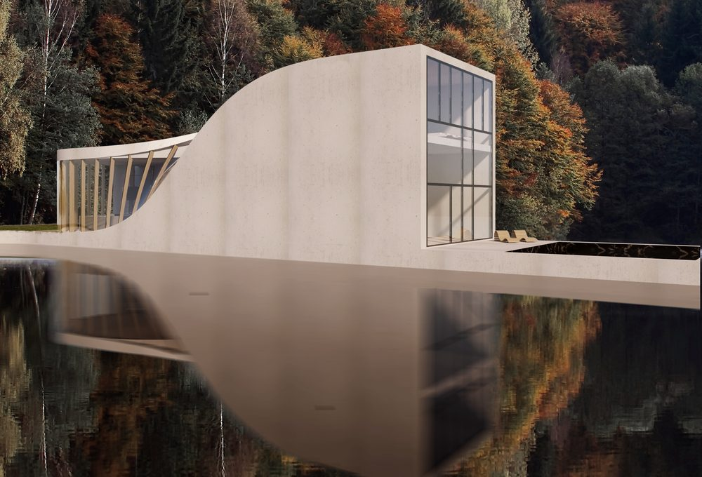 The Lake House by Studio WAFAI, inspired by the landscape around it
